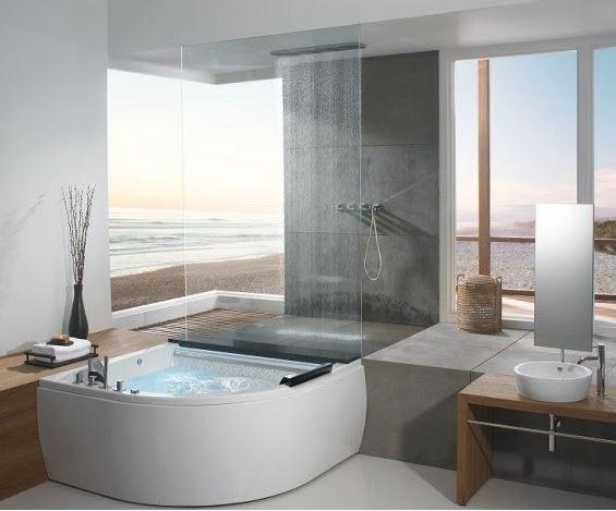 Sử dụng bồn tắm góc để khắc phục nhược điểm không gian
