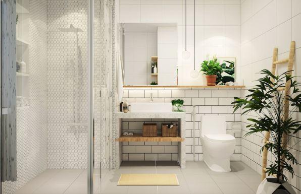 Thêm một mẫu phòng tắm nhỏ gọn và sang trọng mà đầy đủ tiện ích