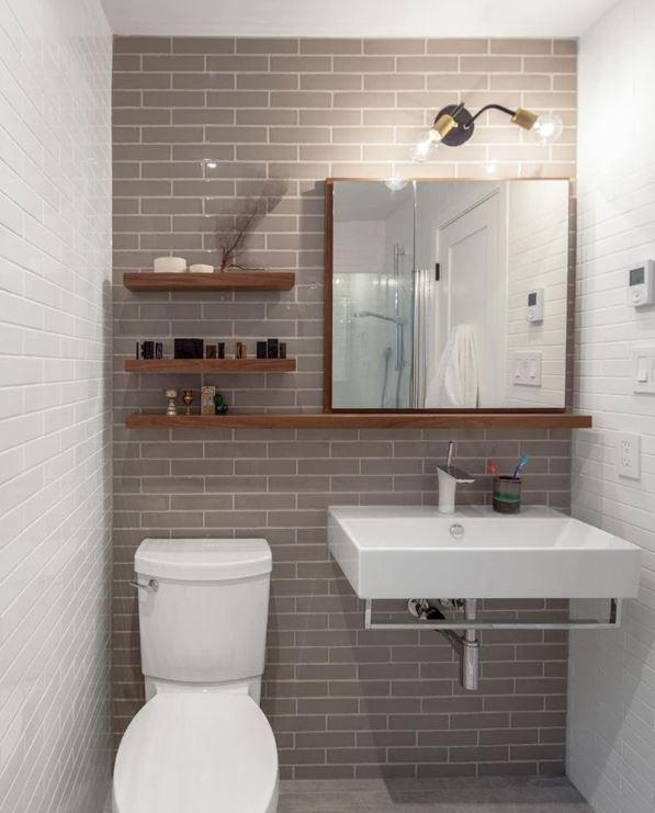 Đề cao tính tối giản sẽ làm phòng tắm không bị chật chội