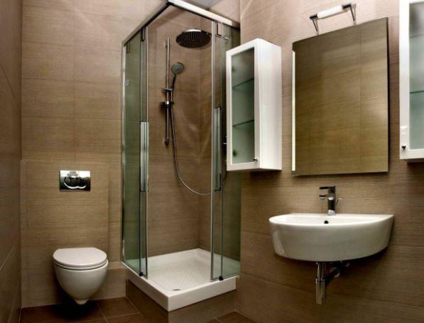 Sử dụng gạch lát màu sắc đá tự nhiên và thiết bị vệ sinh treo tường