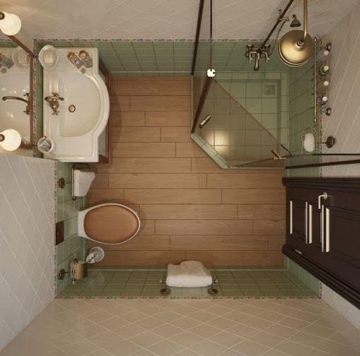 Thêm một gợi ý về buồng tắm góc và sự bố trí thiết bị vệ sinh khoa học