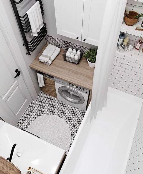 Với bố cục hài hòa thì việc hoàn thiện không gian tắm nhỏ không còn là bài toán khó