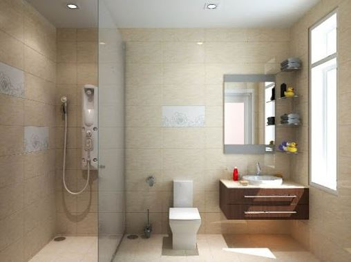 Sử dụng vách kính trong không gian phòng tắm nhỏ