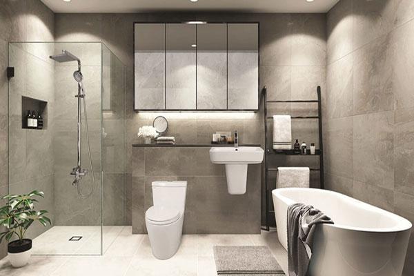 Các cách bố trí phòng tắm khoa học, phong thủy tiết kiệm diện tích nhất 3