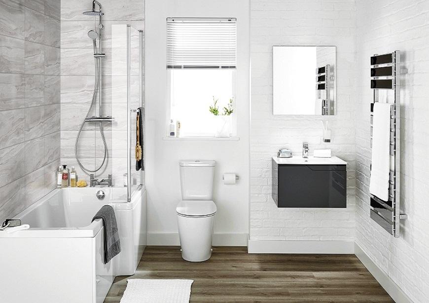 Các cách bố trí phòng tắm khoa học, phong thủy tiết kiệm diện tích nhất 2