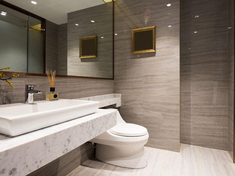 Các cách bố trí phòng tắm khoa học, phong thủy tiết kiệm diện tích nhất 1
